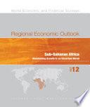 Regional Economic Outlook, October 2012, Sub-Saharan Africa