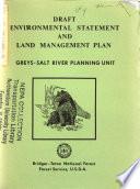 Bridger Teton National Forest N F Greys Salt River Planning Unit