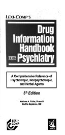 Drug Information Handbook for Psychiatry Book