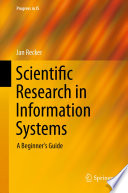 Scientific Research In Information Systems Book PDF