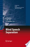 Blind Speech Separation Book PDF