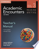Academic Encounters Level 3 Teacher S Manual Reading And Writing