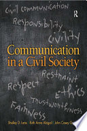 Communication in a Civil Society Book PDF