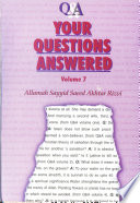 Your Questions Answered Volume Vii Book