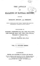 Annals   Magazine of Natural History