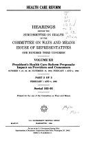 Health Care Reform  Serial 103 91