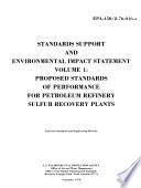 Petroleum Refinery Sulfur Plants Standards