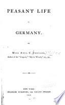 Peasant Life in Germany Book