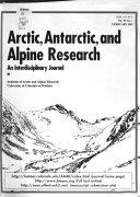 Arctic  Antarctic  and Alpine Research Book