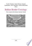 Balkan Border Crossings Book