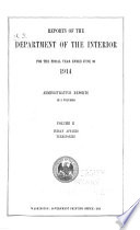 Report of the Secretary of the Interior for the Fiscal Year