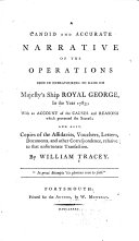 A Candid and Accurate Narrative of the Operations Used in Endeavouring to Raise His Majesty's Ship Royal George