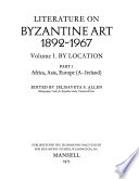 Literature on Byzantine Art, 1892-1967