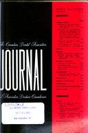 Journal De L Association Dentaire Canadienne