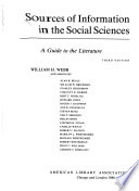 Sources of Information in the Social Sciences