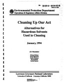 Cleaning Up Our Act