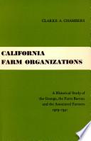 California Farm Organizations
