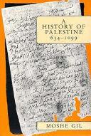 A History of Palestine  634 1099