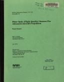 Fiber Optic  flight Quality  Sensors for Advanced Aircraft Propulsion