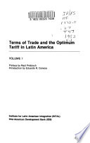 Terms of Trade and the Optimum Tariff in Latin America