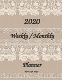 2020 Weekly   Monthly Planner 8 5x11