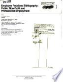Employee Relations Bibliography