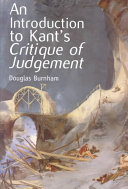 An Introduction To Kant S Critique Of Judgement