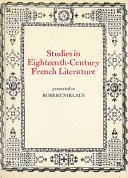Studies in eighteenth-century French literature