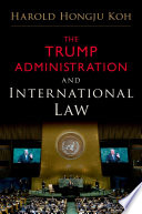 The Trump Administration And International Law