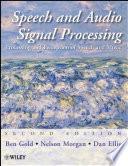 Speech and Audio Signal Processing