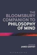 The Bloomsbury Companion to Philosophy of Mind Pdf/ePub eBook