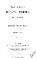 Moral and religious essays poems   c    from my diary