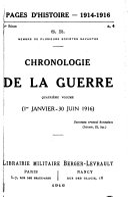 Pages d'histoire, 1914