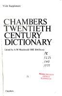 Chambers Twentieth Century Dictionary Book
