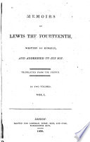 Memoirs of Lewis the Fourteenth