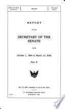 Report of the Secretary of the Senate