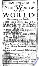 The History Of The Nine Worthies Of The World By R B I E Nathaniel Crouch