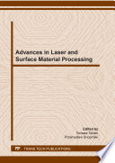 Advances In Laser And Surface Material Processing Book PDF