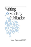 Pdf Writing for Scholarly Publication Telecharger