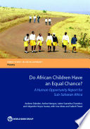 Do African Children Have An Equal Chance