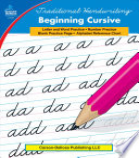 Traditional Handwriting  Beginning Cursive  Grades 1   3