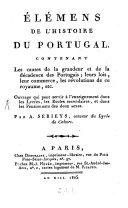 Élémens de l'histoire du Portugal
