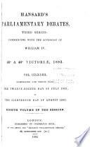 Hansard s Parliamentary Debates Book