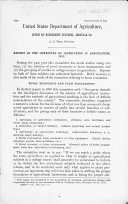 Report of the Committee on Instruction in Agriculture  1911