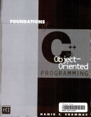 Foundations of C   and Object oriented Programming