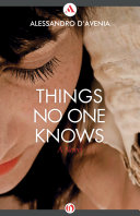 Things No One Knows Book