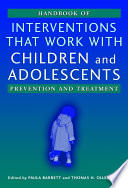 Handbook Of Interventions That Work With Children And Adolescents