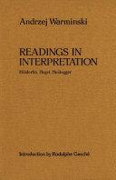 Readings in Interpretation