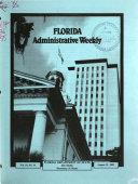 Florida Administrative Weekly