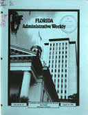 Florida Administrative Weekly